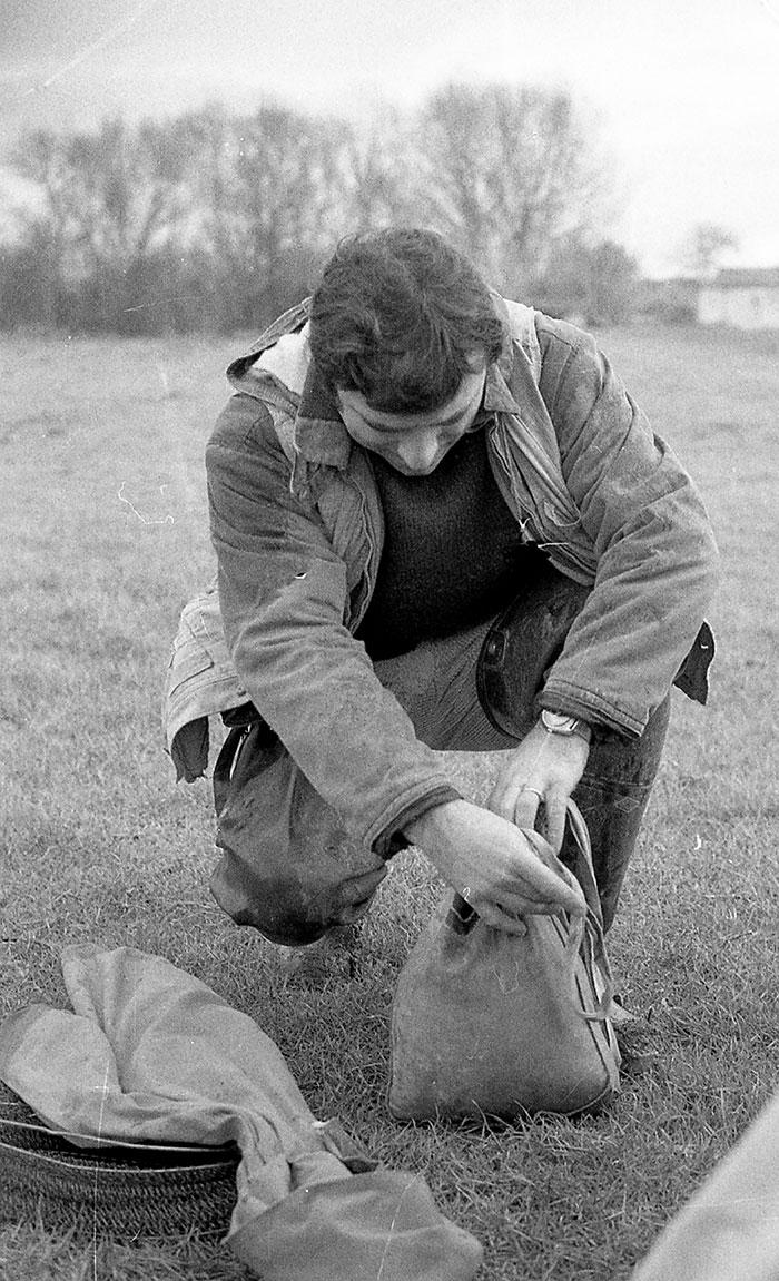 preparazione pesca con le budellina