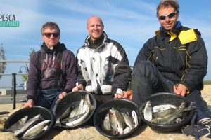 Battuta di pesca nel fiume Ebro